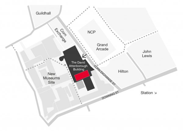The David Attenborough Center location map